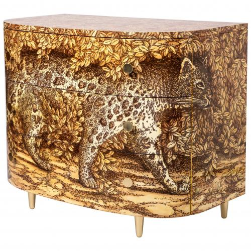 "A curved ""Leopardo"" commode by Atelier Fornasetti"