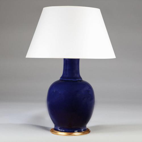 A FINE MONOCHROME BLUE GLAZE VASE