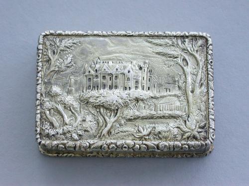 William IV Large Silver Gilt Castle-Top Vinaigrette - Abbotsford House