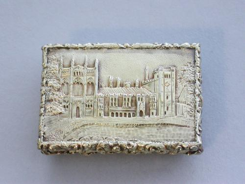 William IV Silver Gilt Castle-Top Vinaigrette - Newstead Abbey