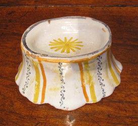 An 18th century, Continental, polychrome, faience salt