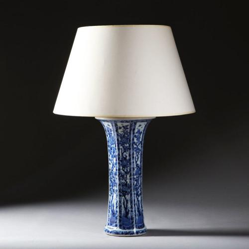 A 19th Century Flared Blue and White Chinese Vase