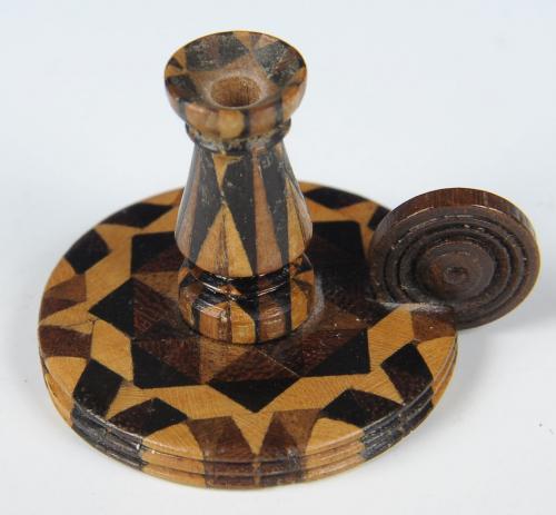Tunbridge Ware Miniature Chamberstick