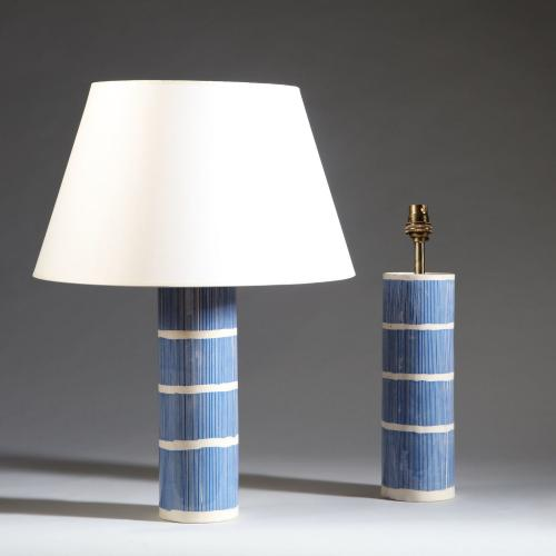 A Pair of Blue and White Studio Pottery Vases