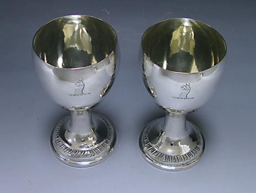 A Pair of Irish Provicial Silver Goblets