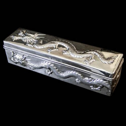 Chinese Export Silver Box by Wang Hing