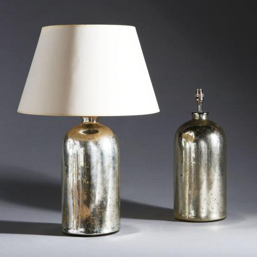 A Pair of Verre Eglomise Bottle Lamps