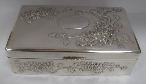 Large Antique Chinese Silver Box