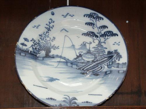A late-18th century delftware dish