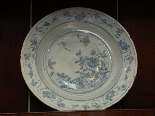 A mid-18th century delftware dish