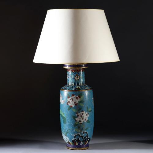 A Fine 19th Century Cloisonne Lamp