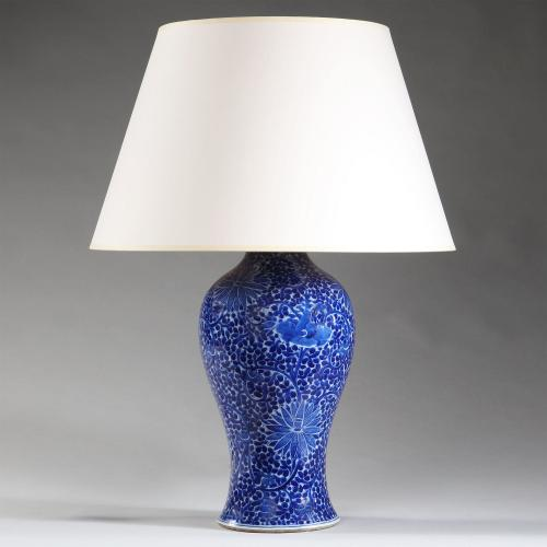 A Fine Kangxi Porcelain Vase as a Lamp