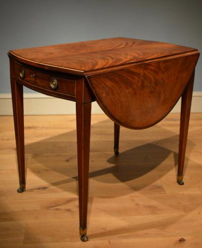 A George III mahogany Pembroke table  Circa 1790