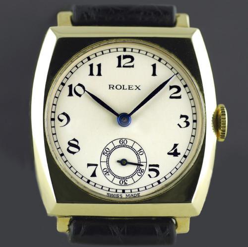 Rolex, Gold, Art Deco Tonneau Wristwatch 1937