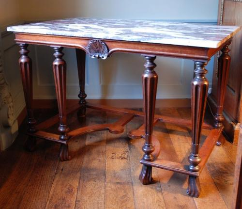 An early 18th Century side table of rare Baroque form. Circa 1720