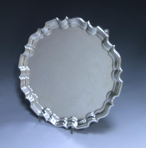 An Edwardian Antique Silver Salver