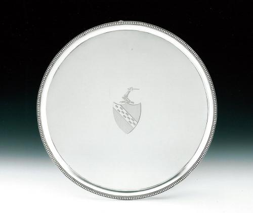 An extremely fine George III Circular Drinks Salver made in London in 1784 by Crouch & Hannam