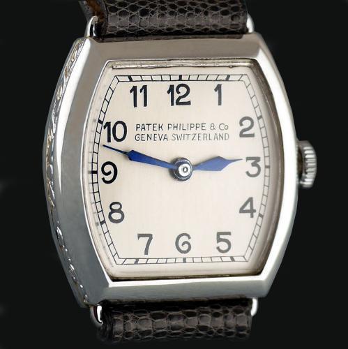 Patek Philippe Platinum Art Deco Wristwatch, 1938