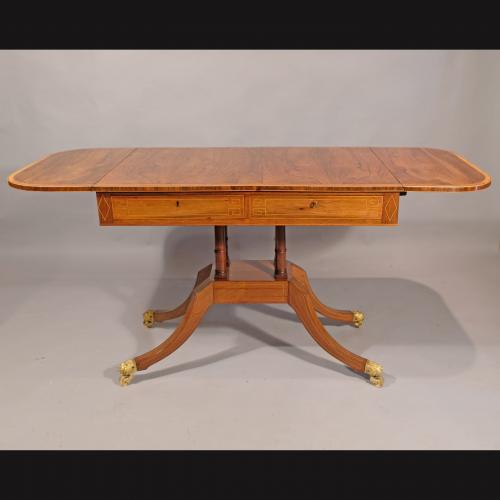Regency Period Rosewood and Satinwood Sofa Table