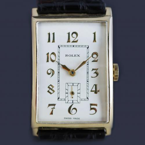 Rolex Art Deco Gold Wristwatch 1930