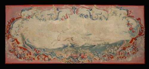 A late-18th century Aubusson tapestry panel