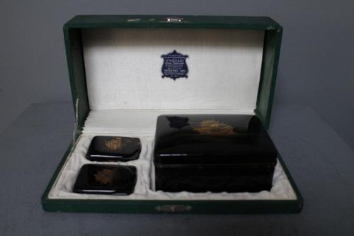 A set of japanese tortoiseshell boxes made by Y.Yezaki