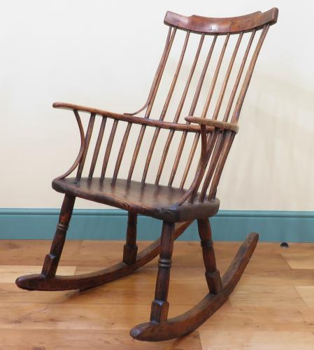 A Rare Late 18th Century Rocking Windsor Chair