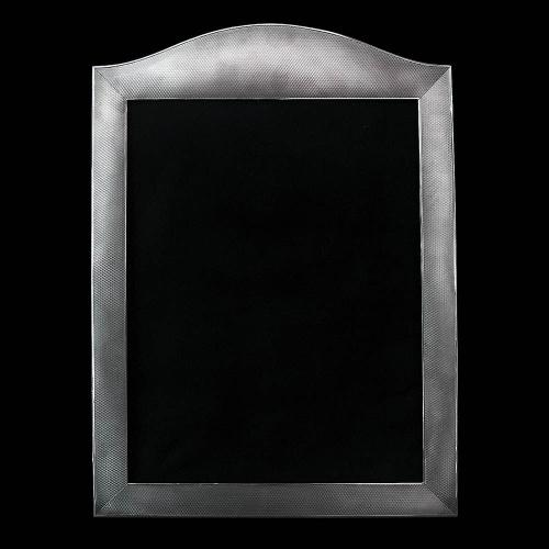 A Large Silver 'Engine Turned' Photograph Frame