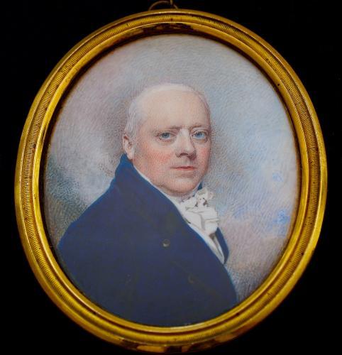 An early 19th century portrait miniature of Henry Herbert, 1st Earl of Carnarvon (1741-1811)