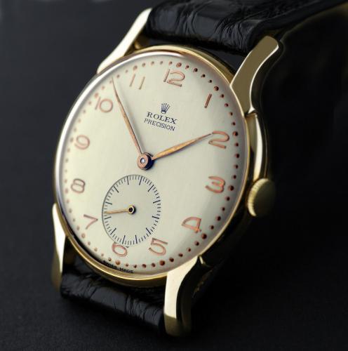 Rose Gold Rolex Precision wristwatch circa 1945