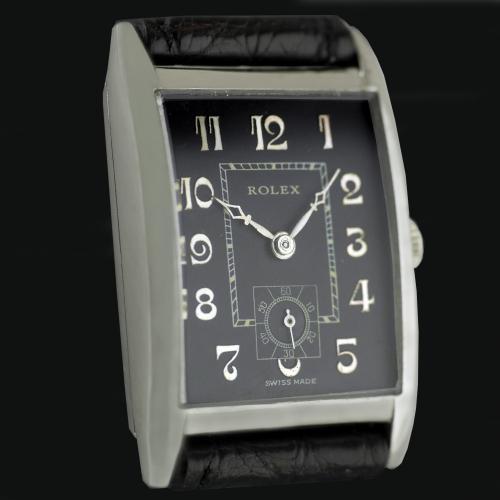 Rolex, Art Deco, Silver Wristwatch 1930