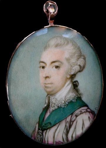 A portrait miniature of John Ker, 3rd Duke of Roxburghe KG KT PC (23 APRIL 1740 – 1804)