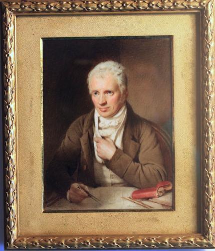Edward Smyth (1749-1812) seated holding a drawing instrument