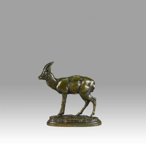 "French Animalier Bronze  ""Kevel"" by Antoine Louis Barye"
