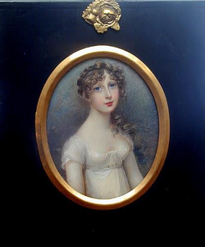 A beautiful miniature portrait of a young girl