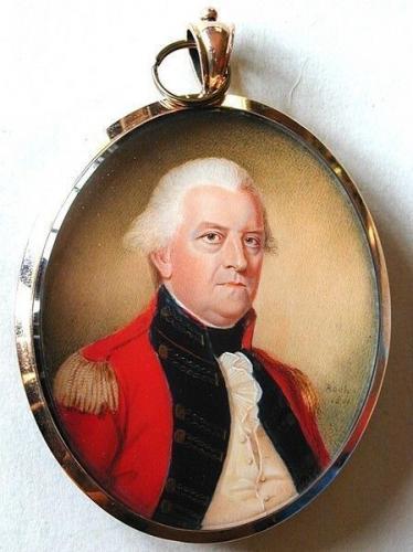 A superb portrait miniature of an unknown Major General