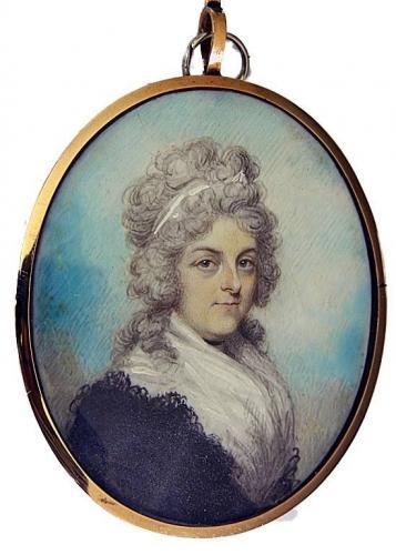 A portrait miniature of Lady Frances-Jory Cooke (d.1796)