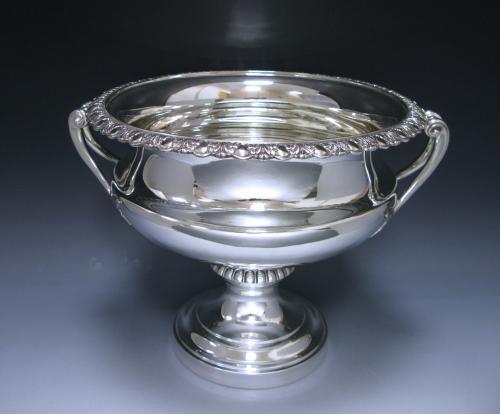 An Edwardian Antique Silver Large Bowl