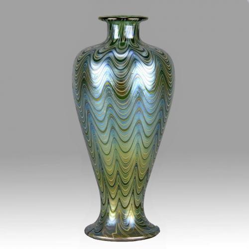 Austrian Art Nouveau 'Lava Phanomen Vase' by Johann Loetz