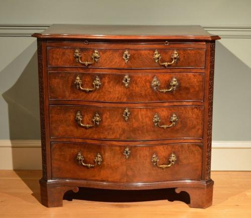 A fine small George III mahogany serpentine chest Circa 1760