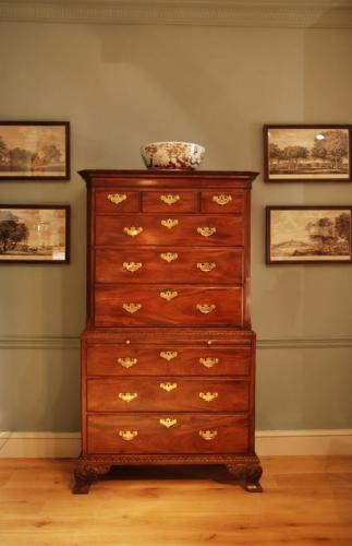 ​A good 18th Century mahogany tallboy in two sections. ​Circa 1750
