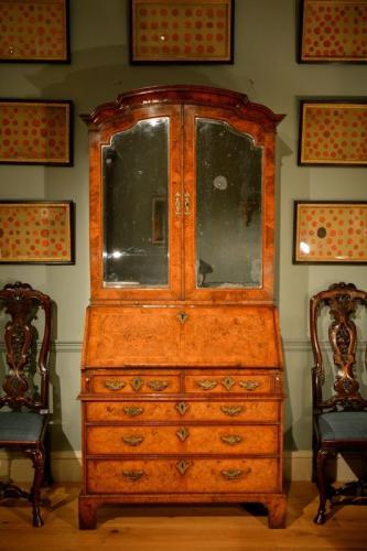 A fine quality early 18th Century walnut bureau bookcase Circa 1730