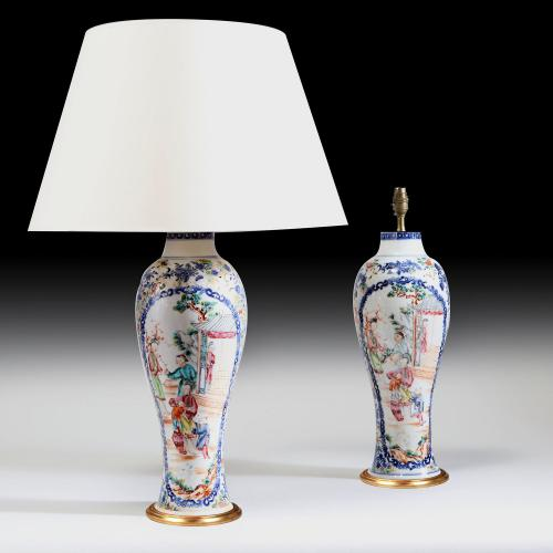 A Fine Pair of 18th Century Chinese Porcelain Vases