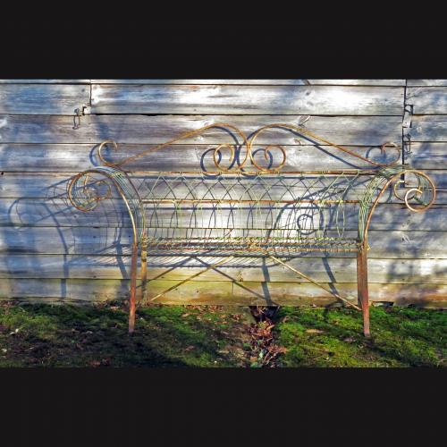 Edwardian Two Seat Wirework Bench