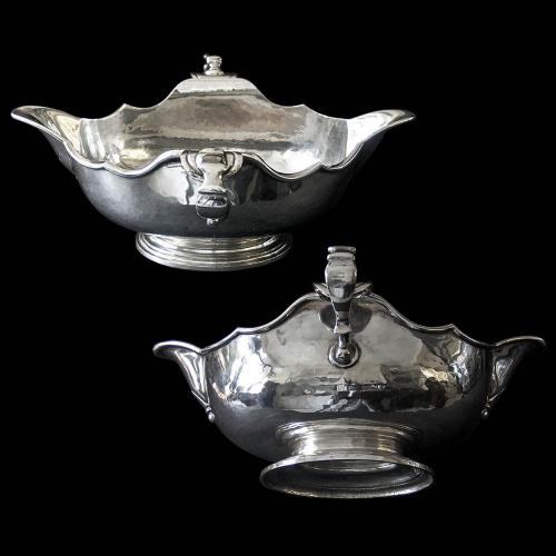 A Pair of Britannia Silver Double Lipped Sauce Boats