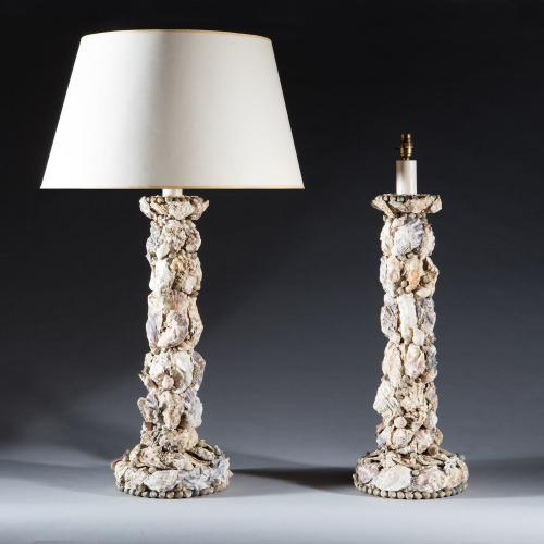 A Fine Pair of Grotto Lamps