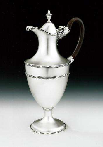 An extremely fine George III Classical Water/Wine Ewer made in London in 1778 by Hester Bateman