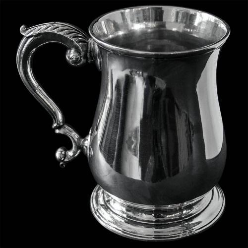 English Antique Georgian Silver Pint Mug