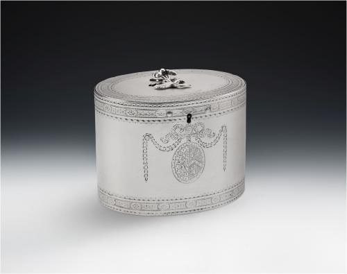 The Tudway Tea Caddy - Made in London in 1777 by Hester Bateman.