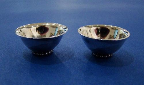 Pair of Silver Miniature Bowls
